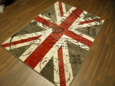 Modern Approx 6x4 120x170cm Woven Backed Union Jack GREYS STAMPED Quality rugs